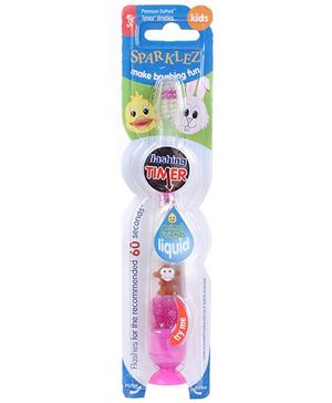 D-Tech Sparkles Toothbrush With Flashing Timer Pink