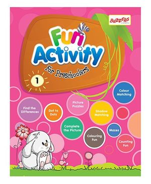 Buzzers Fun Activity Book for Preschoolers Volume 1 - English