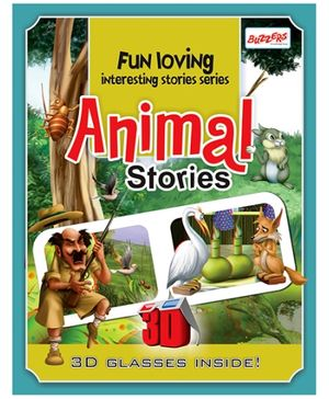 Buzzers Animal Stories 3D Book - English