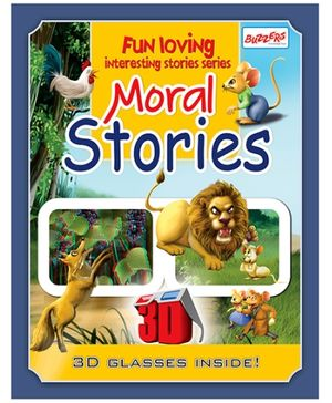 Buzzers Moral Stories 3D Book - English