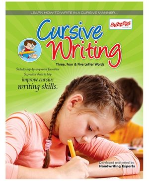 Buzzers Cursive Writing Three Four And Five Letter Words - English