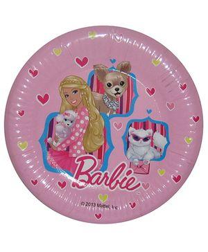 Barbie Pink Paper Plates - 17.5 cm