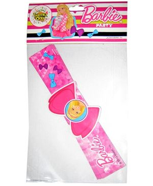 Barbie Pink Paper Wrist Band - Pack Of 8