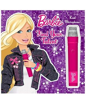 Barbie Find Your Talent Book With Real Microphone