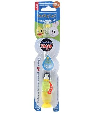 D Tech Sparklez Yellow Soft Kids Toothbrush With Flashing Timer