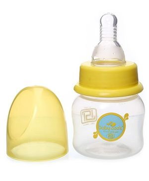 Baby Coo's Yellow Feeding Bottle - 60 ML