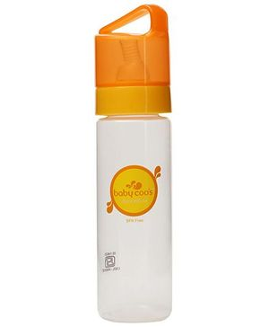 Baby Coos Feeding Bottle With Orange Lid - 250 ml