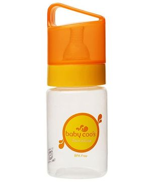 Baby Coos Feeding Bottle With Orange Lid - 125 ml