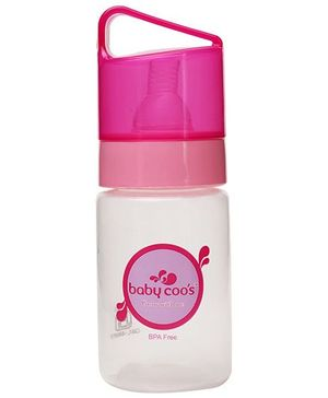 Baby Coos Feeding Bottle With Pink Lid - 125 ml