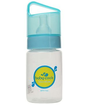 Baby Coos Feeding Bottle With Blue Lid - 125 ml