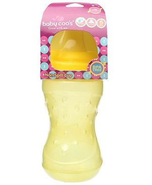 Baby Coos Grippy Pink Non-spill Cups Hard Spout - 250 ml