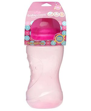 Baby Coos Grippy Pink Non-spill Cups Hard Sprout - 250 ml