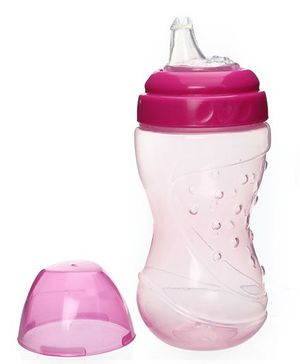 Baby Coo's Pink Non Spill Soft Spout Cup 200 ML - 6 Months Plus