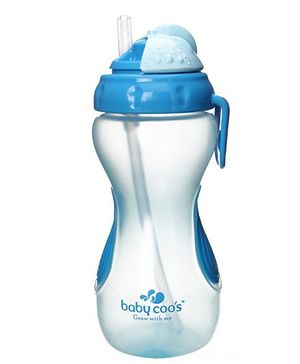 Baby Coo's Blue Swipy Straw Cup 330 ML