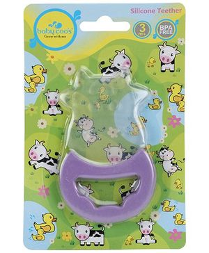 Baby Coos Toy Teether Cow Shape - Purple