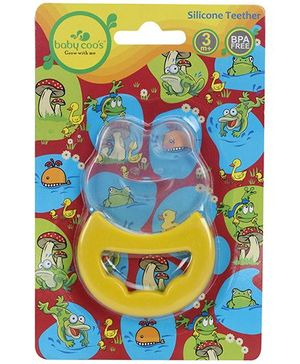 Baby Coos Toy Teether Frog Shape - Yellow