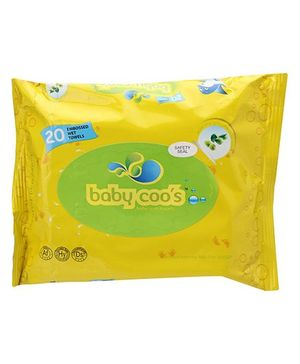 Baby Coo's Baby Wet Towels Olive - 20 Pieces