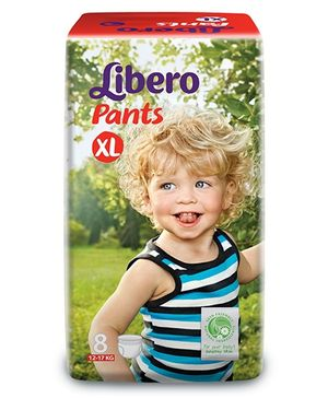 Libero Pant Style Baby Diaper Extra Large - 8 Pieces