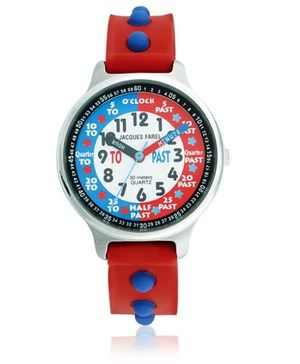 Jacques Farel Kids My First 3D Strap Wristwatch Red