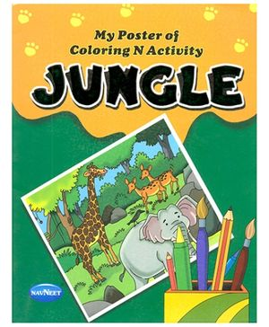 NavNeet My Poster Of Colouring And Activity Jungle - English