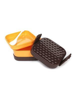 Fab N Funky Lunch Box With Spoon - Square Shape