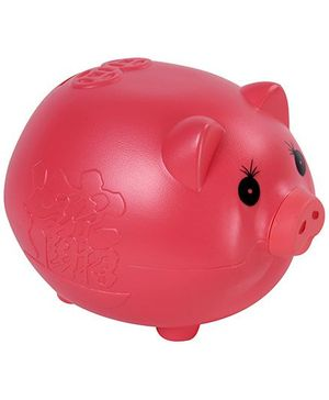 Fab N Funky Pig Design Coin Bank - Red