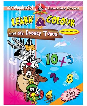 Sterling Learn And Colour With Looney Tunes Mathematics - English