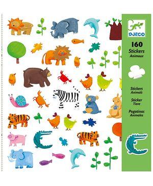 Djeco Animals Stickers - 160 Stickers