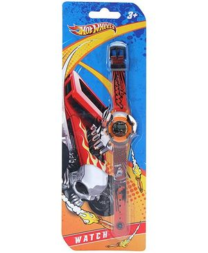 Hotwheels Red Digital Wrist Watch - Makin Tracks Print Strap