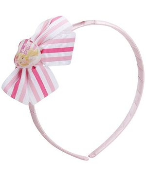 Hopscotch Barbie icon On Striped Bow Pink Hair Band