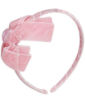 Barbie Pink Velvety Bow With Barbie Icon Hair Band