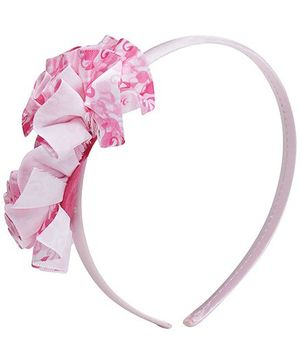 Barbie Pearl On Multi Frills Ribbon Pink Hair Band