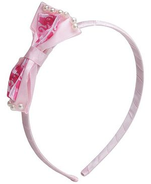 Barbie Ribbon Bow With Pearl Pink Hair Band