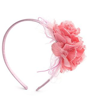 Hopscotch Hair Band With Peach Flower Carnation