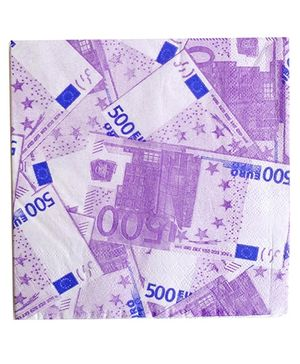 Party Anthem Euro Paper Napkin - Pack Of 20