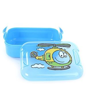 Decor Pumped Easy Open Blue Lunch Box - 16 x 12 x 6.5 cm