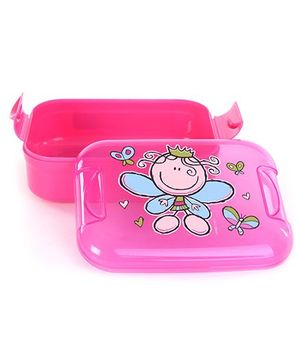 Decor Pumped Easy Open Pink 400 ml Lunch Box - 16 x 12 x 6.5 cm