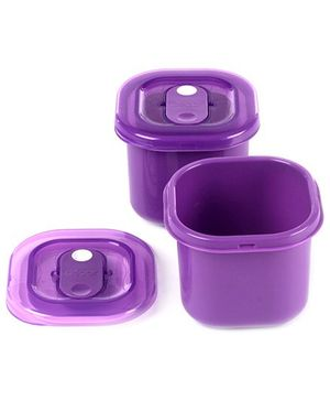 Decor Set Of 2 Realseal Purple Lunchbox - 125 ML