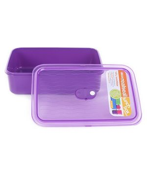 Decor Realseal Purple Lunchbox 1 Liter - 13.5 x 20.5 x 5.5 cm