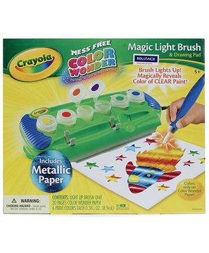 Crayola Color Wonder Magic Light Brush with Metallic Paper - 5 Years Plus