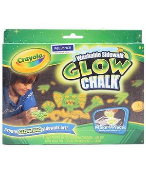 Crayola Sidewalk Glow Chalk - 6 Years Plus