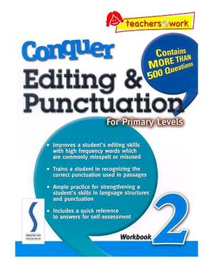 Singapore Asian Publication Conquer Editing And Punctuation For Primary 2 - English