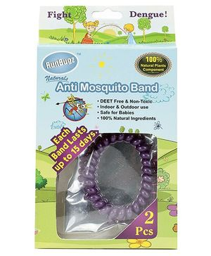 Runbugz Anti Mosquito Band Purple - Set Of 2 Pieces