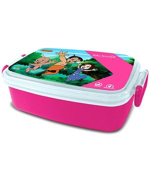 Chhota Bheem Robust Hinge Lock Lunch Box - Pink