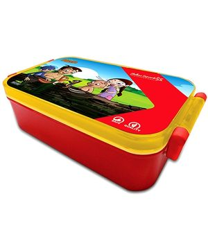 Chhota Bheem Robust Hinge Lock Lunch Box - Red