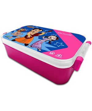 Chhota Bheem Robust Hinge Lock Pink Lunch Box