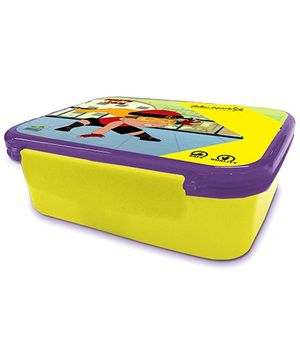 Mighty Raju Robust Hinge Lock Lunch Box - Yellow