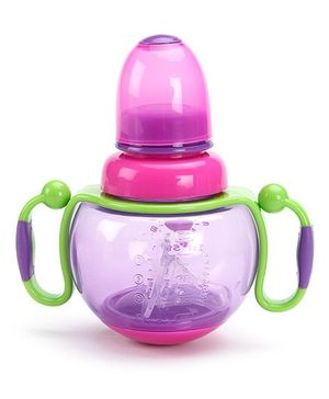 1st Step Feeding Bottle with Handle Purple - 260 ml