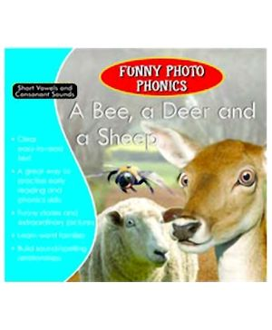Shree Book Centre Funny Photo Phonics A Bee, A Deer and A Sheep - English