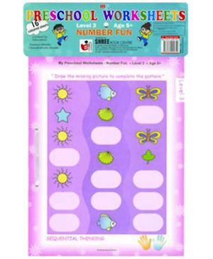 Shree Book Centre Preschool Worksheets Number Fun - Level 3